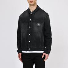 Мужская джинсовая куртка Calvin Klein Jeans Oversized Embroidered Monogram Black фото- 2
