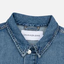 Мужская джинсовая куртка Calvin Klein Jeans Oversized Embroidered Monogram Mid Blue фото- 1