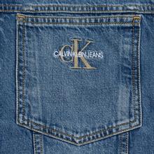 Мужская джинсовая куртка Calvin Klein Jeans Oversized Embroidered Monogram Mid Blue фото- 3