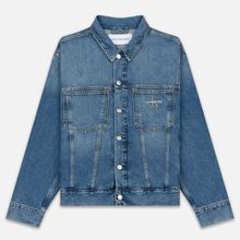 Мужская джинсовая куртка Calvin Klein Jeans Oversized Embroidered Monogram Mid Blue фото- 0