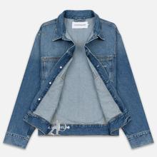 Мужская джинсовая куртка Calvin Klein Jeans Oversized Embroidered Monogram Mid Blue фото- 2