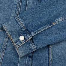 Мужская джинсовая куртка Calvin Klein Jeans Oversized Embroidered Monogram Mid Blue фото- 4