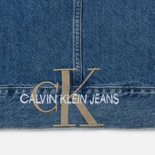 Мужская джинсовая куртка Calvin Klein Jeans Oversized Embroidered Monogram Mid Blue фото- 5