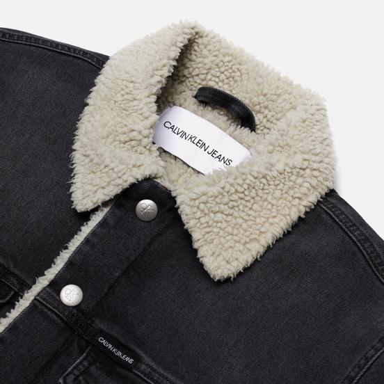 Мужская джинсовая куртка Calvin Klein Jeans Sherpa Denim Gray