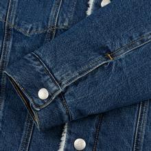 Мужская джинсовая куртка Calvin Klein Jeans Sherpa Regular Fit Mid Blue фото- 4