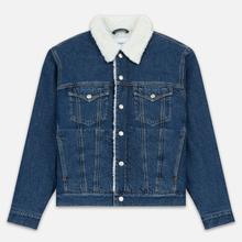 Мужская джинсовая куртка Calvin Klein Jeans Sherpa Regular Fit Mid Blue фото- 0