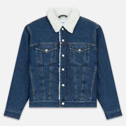 Мужская джинсовая куртка Calvin Klein Jeans Sherpa Regular Fit Mid Blue