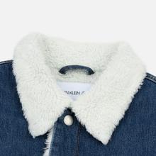 Мужская джинсовая куртка Calvin Klein Jeans Sherpa Regular Fit Mid Blue фото- 1