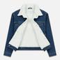 Мужская джинсовая куртка Calvin Klein Jeans Sherpa Regular Fit Mid Blue фото - 2