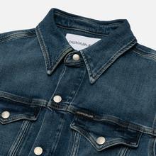 Мужская джинсовая куртка Calvin Klein Jeans Slim Fit Mid Blue фото- 1