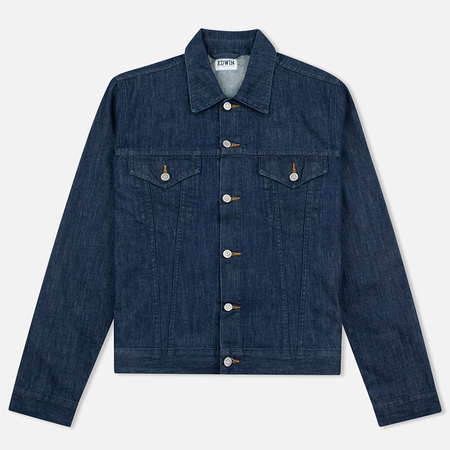 Edwin Buddy Organic 11 Oz Men's Denim Jacket Blue Rinsed