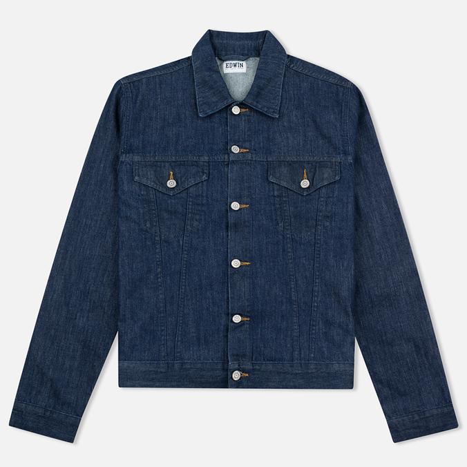 Мужская джинсовая куртка Edwin Buddy Organic 11 Oz Blue Rinsed