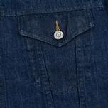 Мужская джинсовая куртка Edwin Buddy Organic 11 Oz Blue Rinsed фото- 3