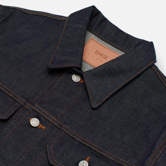 Мужская джинсовая куртка Edwin Denim Kaihara Rainbow Selvage 14 Oz Blue Raw State