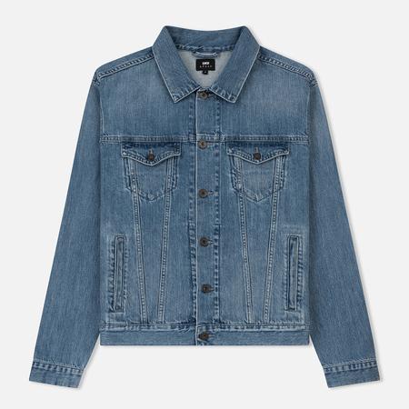 Мужская джинсовая куртка Edwin High Road Kingston Blue Denim 12 Oz Blue Light Stone Washed