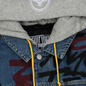 Мужская джинсовая куртка Evisu EK Graffiti Faux 3 In 1 Padded Denim Indigo Med Tone фото - 1