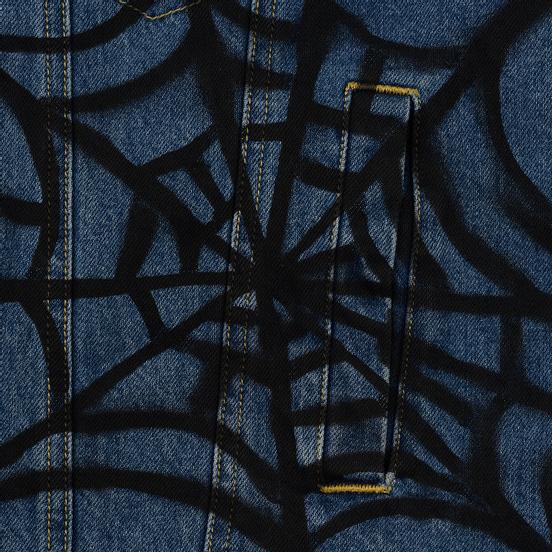 Мужская джинсовая куртка Evisu EK Graffiti Faux 3 In 1 Padded Denim Indigo Med Tone