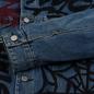 Мужская джинсовая куртка Evisu EK Graffiti Faux 3 In 1 Padded Denim Indigo Med Tone фото - 5
