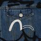 Мужская джинсовая куртка Evisu EK Graffiti Faux 3 In 1 Padded Denim Indigo Med Tone фото - 3