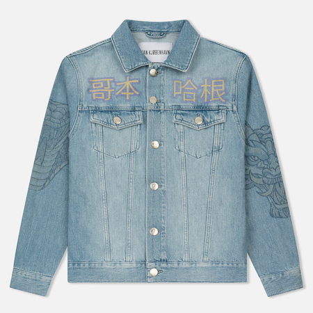 Мужская джинсовая куртка Han Kjobenhavn Base Heavy Stone/Print