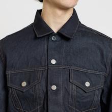 Мужская джинсовая куртка Helmut Lang Masc Trucker Raw Denim Indigo фото- 3