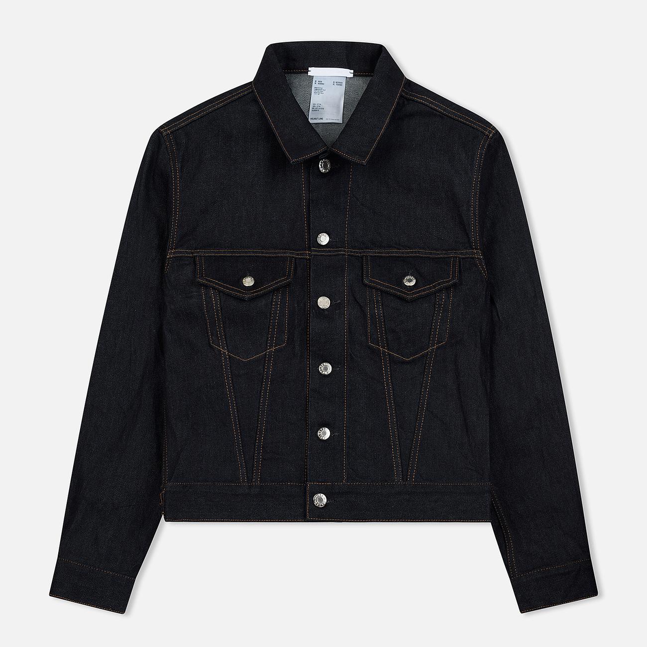 Мужская джинсовая куртка Helmut Lang Masc Trucker Raw Denim Indigo