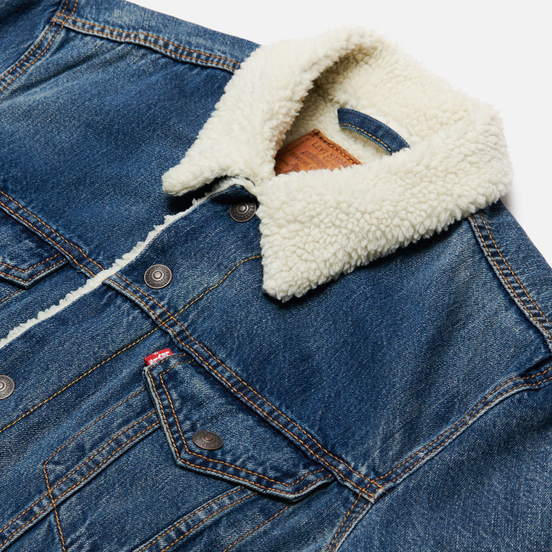 Мужская джинсовая куртка Levi's The Sherpa Trucker Medium Blue