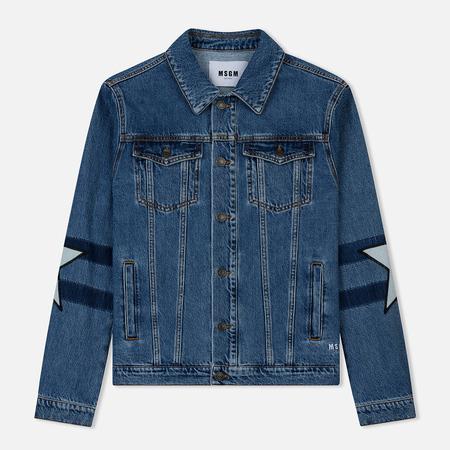 Мужская джинсовая куртка MSGM WOW Print And Stars Medium Blue