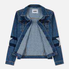 Мужская джинсовая куртка MSGM WOW Print And Stars Medium Blue фото- 1