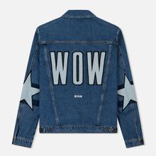 Мужская джинсовая куртка MSGM WOW Print And Stars Medium Blue фото- 2