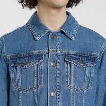 Мужская джинсовая куртка MSGM WOW Print And Stars Medium Blue фото- 5