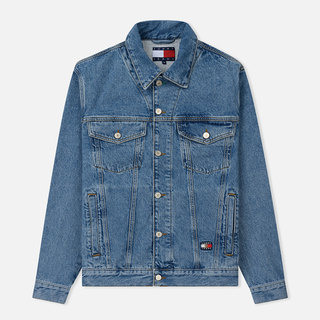 Мужская джинсовая куртка Tommy Jeans Crest Flag Trucker Mid Denim Blue