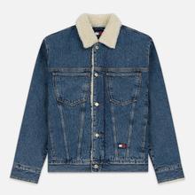 Мужская джинсовая куртка Tommy Jeans Flag Sherpa Denim Mid Blue фото- 0