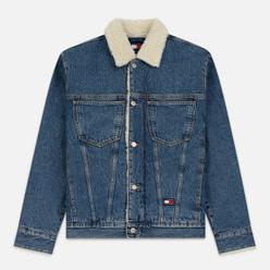 Мужская джинсовая куртка Tommy Jeans Flag Sherpa Denim Mid Blue