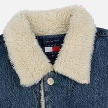 Мужская джинсовая куртка Tommy Jeans Flag Sherpa Denim Mid Blue фото- 2