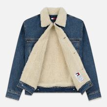 Мужская джинсовая куртка Tommy Jeans Flag Sherpa Denim Mid Blue фото- 1
