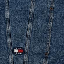 Мужская джинсовая куртка Tommy Jeans Flag Sherpa Denim Mid Blue фото- 3