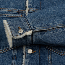 Мужская джинсовая куртка Tommy Jeans Flag Sherpa Denim Mid Blue фото- 4