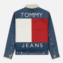 Мужская джинсовая куртка Tommy Jeans Flag Sherpa Denim Mid Blue фото- 6