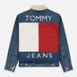 Мужская джинсовая куртка Tommy Jeans Flag Sherpa Denim Mid Blue фото - 6
