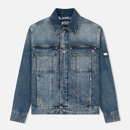 Мужская джинсовая куртка Tommy Jeans Oversized Denim Trucker Americana Blue Rig Dust