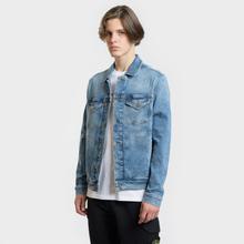 Мужская джинсовая куртка Tommy Jeans Regular Trucker Dallas Mid Blue Com фото- 2