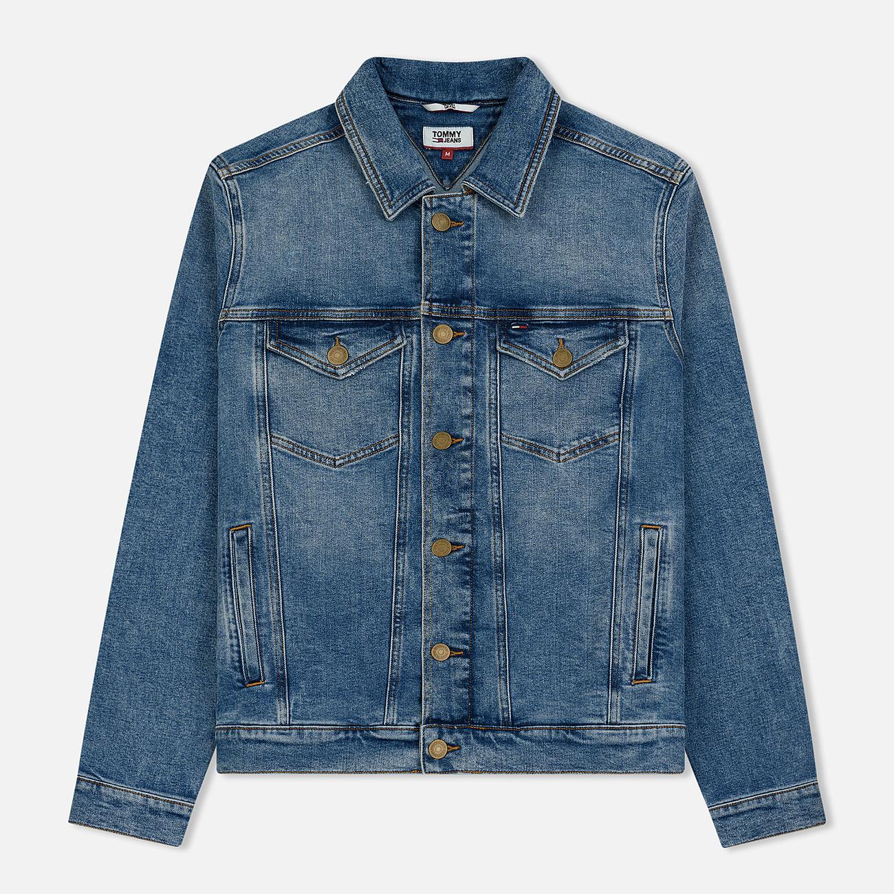Мужская джинсовая куртка Tommy Jeans Regular Trucker Dallas Mid Blue Com