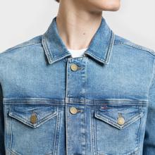Мужская джинсовая куртка Tommy Jeans Regular Trucker Dallas Mid Blue Com фото- 3