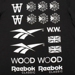 Reebok x Wood Wood GR Men's T-shirt Black/White photo- 2