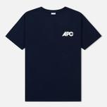Мужская футболка A.P.C. Burnette Dark Navy фото- 0