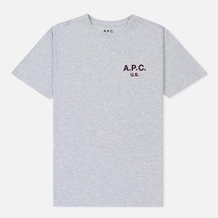 Мужская футболка A.P.C. Flag Heather Grey