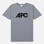 Мужская футболка A.P.C. Johnny Heather Grey фото- 0