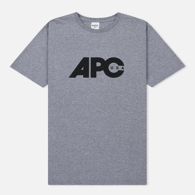 Мужская футболка A.P.C. Johnny Heather Grey