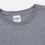 Мужская футболка A.P.C. Johnny Heather Grey фото- 1
